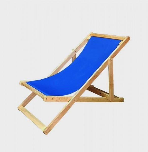 Liegestuhl aus Wetterfesten Kautschuk Holz - Strandliege Gartenliege Sonnenliege