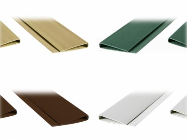 Abdeckprofil für PVC-Sichtschutzmatte - in verschiedenen Farben