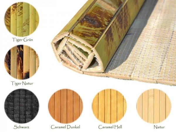 Bambus Rollbelag / Wandverkleidung - Exotisches Naturparkett aus massiven Bambuslatten