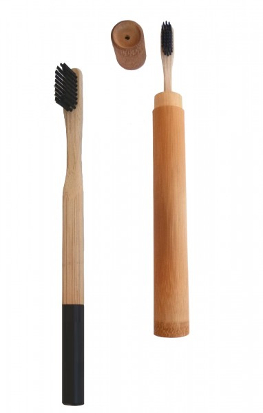 Bambus Zahnbürste inkl. Bambusrohr als Verpackung - Natur Zahnbürste 100 % nachhaltig.