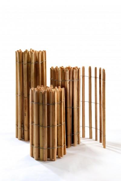 Staketenzaun aus Akazienholz - Premium Naturzaun langlebig und widerstandsfähig