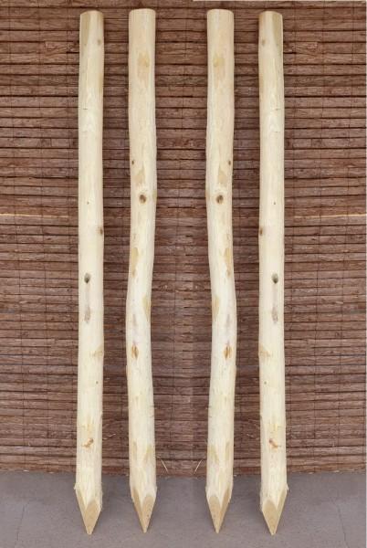 Zaunpfosten Robine - Rundholzpfosten Akazien Holz Pfosten für Naturzäune
