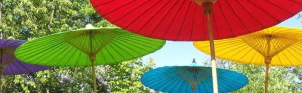 Sonnenschirm aus Bambus