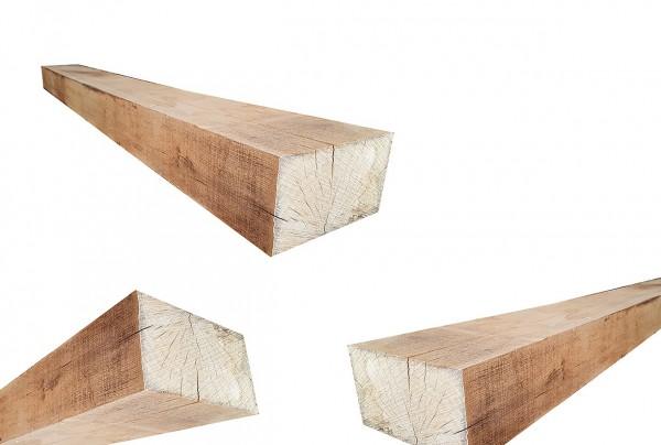 Holzpfosten aus robusten Eichenholz - 4 Kant Holzpfosten Eiche