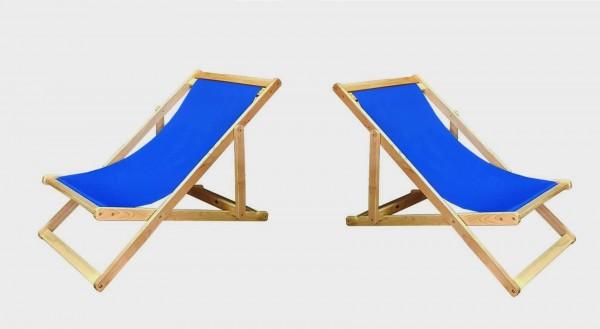 Liegestuhl aus Kautschukholz - Sonnenliege Strandliege Gartenliege Relax Liege Balkon Garten