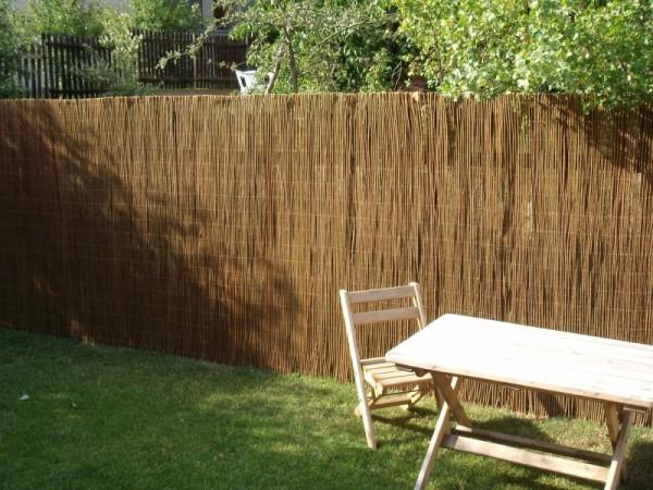 Weidenmatte Sichtschutzmatten Zaun Weidenzaunmatten Garten
