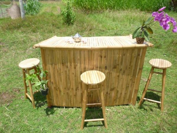 Lounge Bar aus natürlichen Bambus