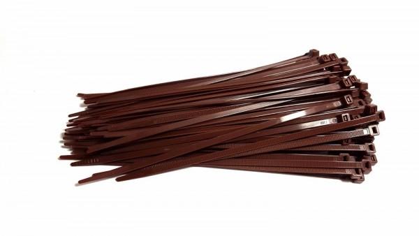 Kabelbinder braun in 200 x 4,8 mm - Befestigung für Sichtschutzmatten