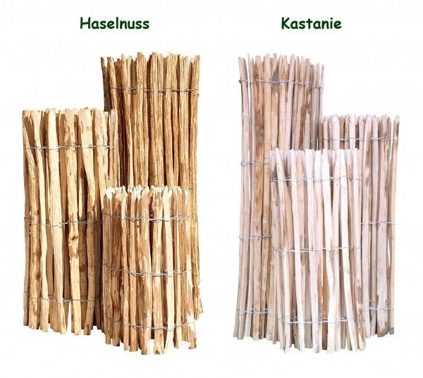 Staketenzaun Kastanie oder Haselnuss - Hochwertig & Rustikal