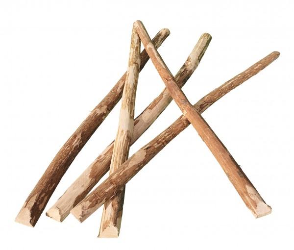 Zaunlatten aus Haselnussholz - naturbelassene Haselnusslatten