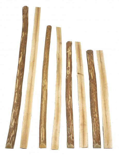 Zaunlatten Haselnuss - Staketenzaun Latten Holzzaun Haselnussholz Natur Holz Latten Zaun