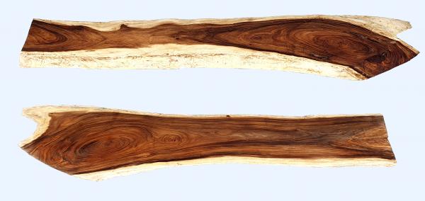 Holzplatte aus Tropenholz - Massive Tischplatte aus Regenbaumholz