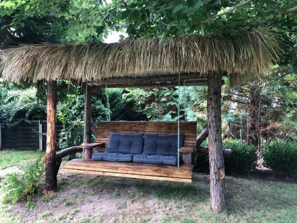 Schilfgrasdach 145 x 80 cm - Natur Dachschindel aus Schilfgras
