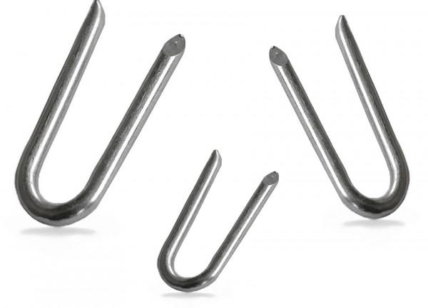 Stahlkrampen 3,0 x 25 mm Zaunhaken zum befestigen von Staketenzäunen und Sichtschutz